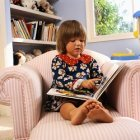 Reading on a chair