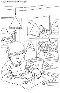 Triangle Preschool Activity Printable Page
