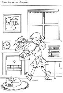Square Preschool Activity Printable Page