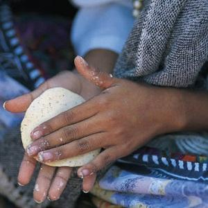 Dough in hands