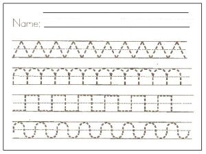 Writing Patterns Worksheets