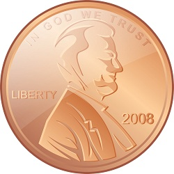 Abraham Lincoln on a penny