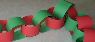 Christmas Paper Chain Advent Craft