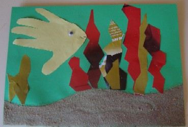 sand collage craft activity