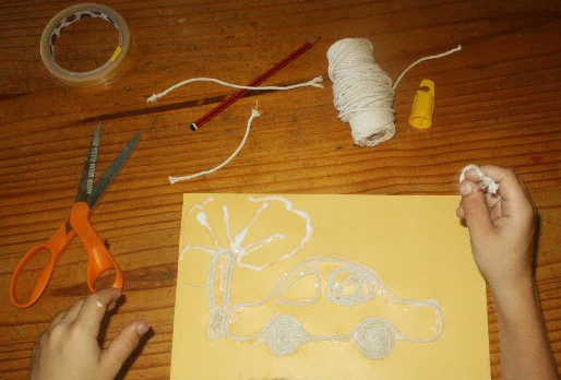 string craft project for kids