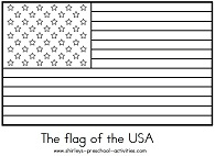 usa flag coloring page, american flag outline