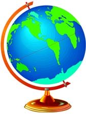 Around the world preschool themes - globe