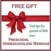 Preschool homeschooling webinar