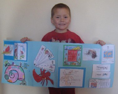 Exploring the Ocean with a Hermit Crab file folder project