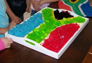 South African Flag from Jelly