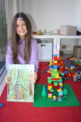 Miss 6yrs with her Eiffel tower