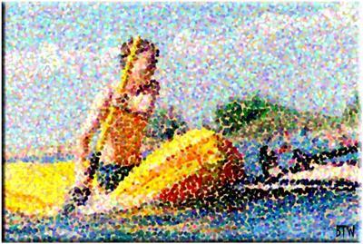 Rafting Pointillism