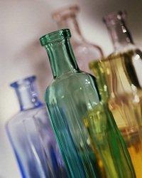 glass bottles
