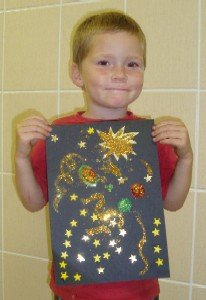 glitter collage craft
