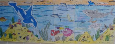 ocean theme mural