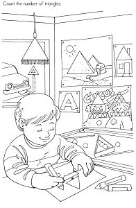 Triangle Preschool Activity Printable Page
